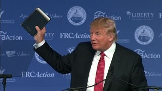 Donald Trump: I brought my bible