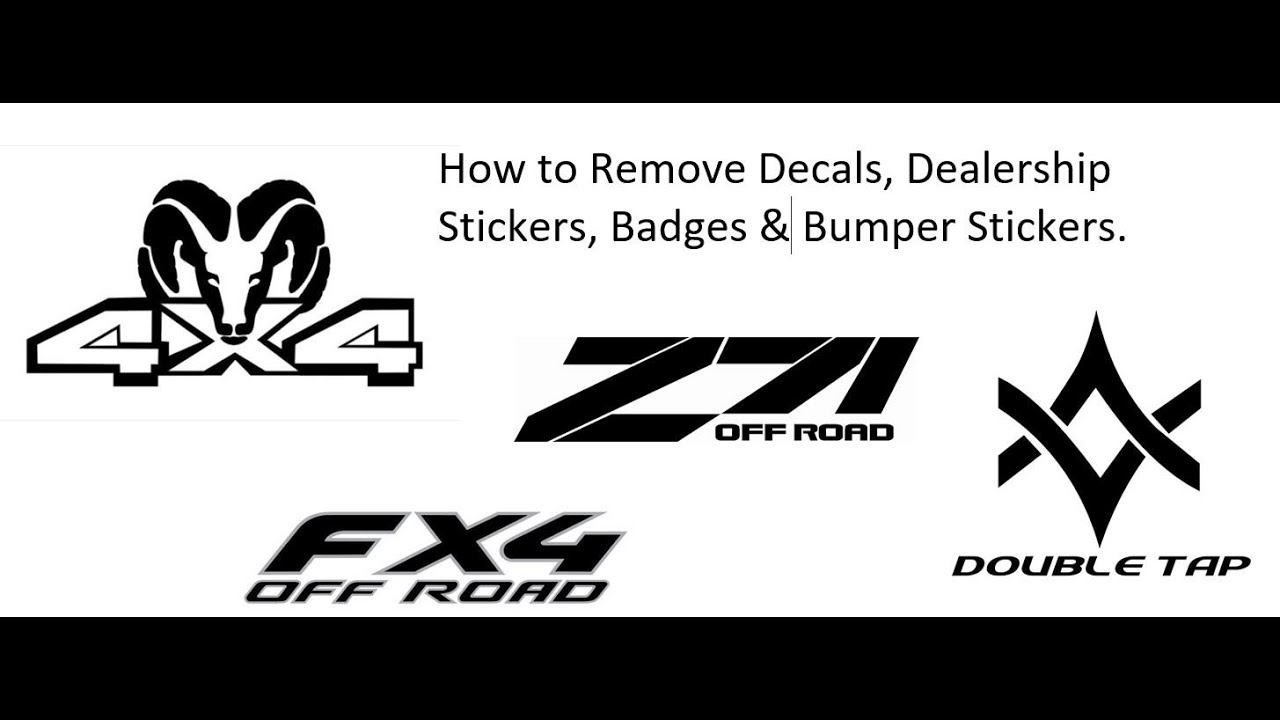 How to Remove Factory Decals from Your Truck or Car - YouTube