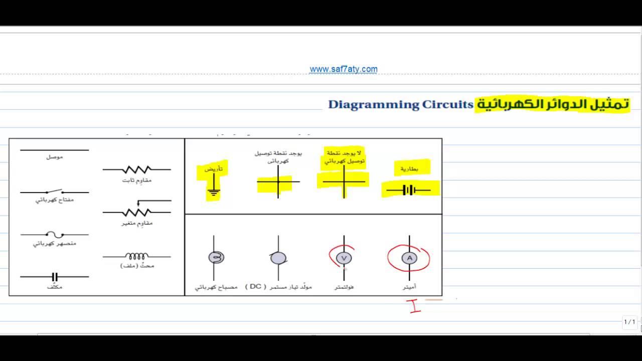 رموز الدوائر الكهربائية pdf