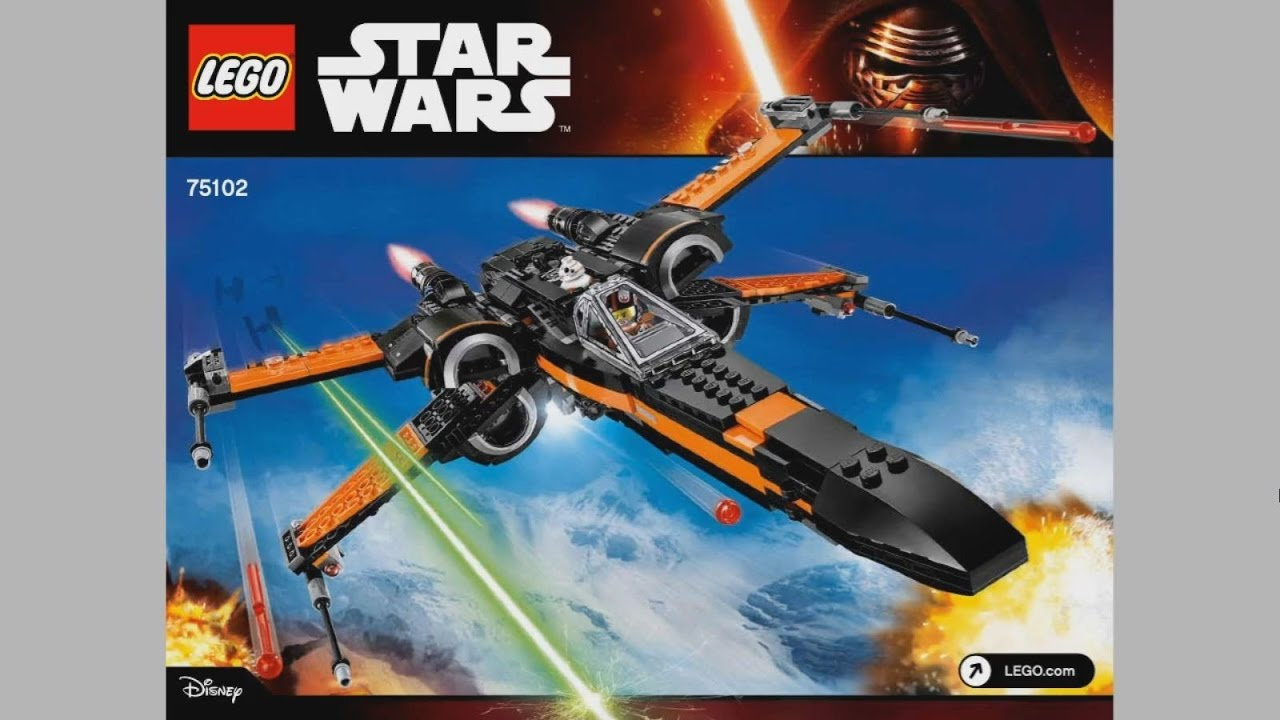 Lego Star Wars 75102 Poes X Wing Fighter Instruction Timelapse