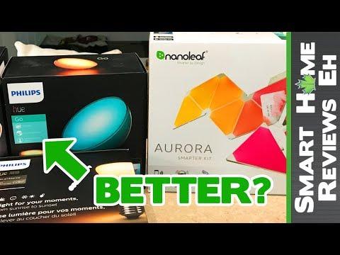 Which one should you get? Aurora Nanoleaf vs Philips Hue - Smart Home Lighting Comparison