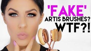 FAKE $20 ARTIS BRUSH SET! WTF?!! | 'TOOTHBRUSH STYLE' OVAL BRUSH REVIEW & DEMO!