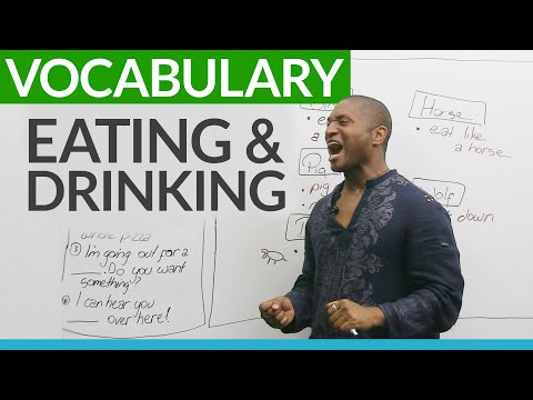 Vocabulary for EATING and DRINKING