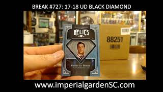 CASE BREAK #727 MAIN: 10 BOX CASE BREAK 17-18 UD BLACK DIAMOND NHL
