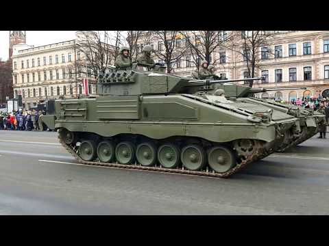 Military Parade in Riga, Latvia. 18.11.2017