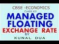 Managed Floating exchange rate (Hindi / English)