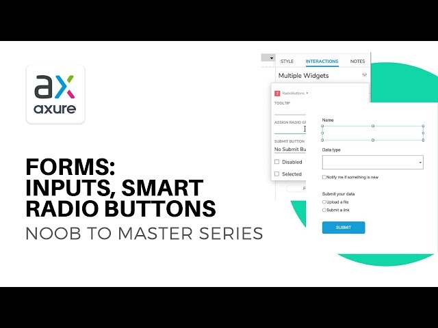 Forms, Inputs and Smart Radio Buttons | Axure RP: Noob to Master Ep7