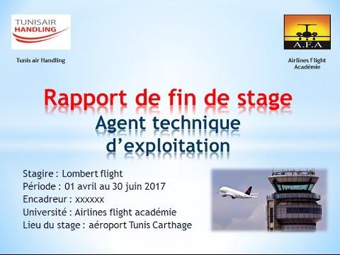 Rapport De Fin De Stage Memoire Atpl