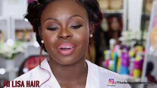 BEAUTIFUL NATURAL  BRIDAL MAKEUP AND HAIR |WOC |BLACK WOMEN|  MI LISA HAIR| UK
