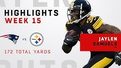 Jaylen Samuels' 172 Total Yards vs. Patriots!
