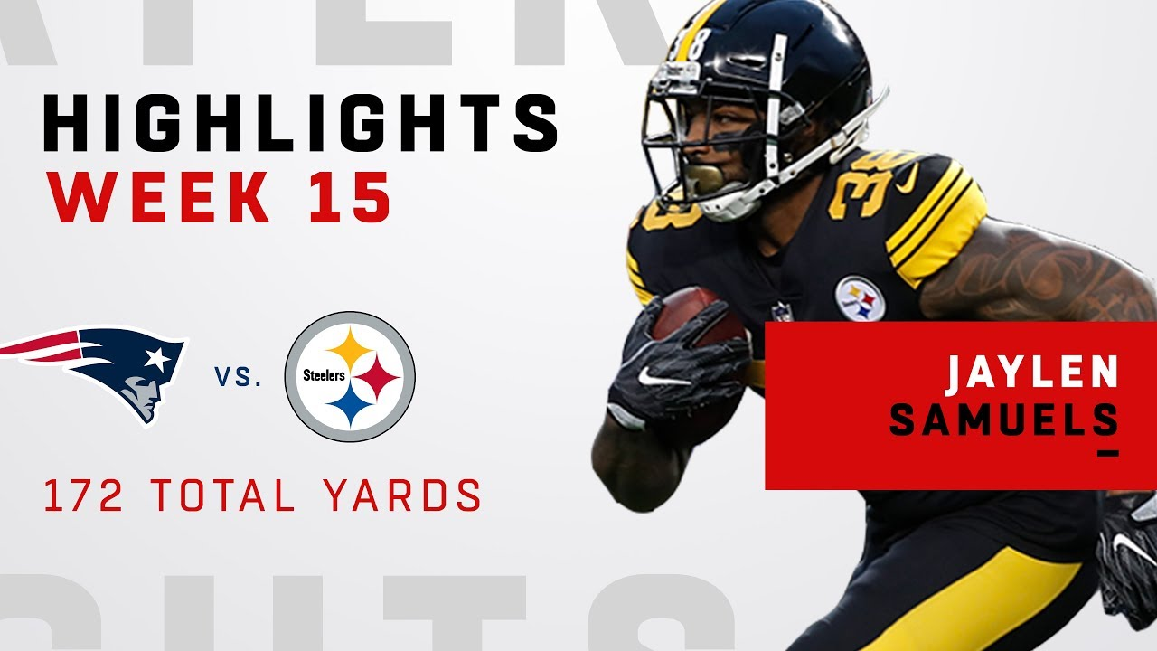premium selection 1dc6c b521c Jaylen Samuels' 172 Total Yards vs. Patriots!