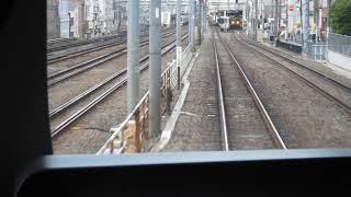 西武鉄道30000系「急行 本川越行き」が西武新宿駅を発車(車内から)