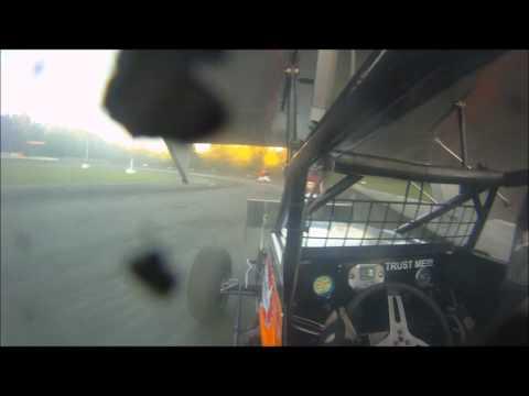 Dan Douville In-Car SCoNE Heat Race at Bear Ridge Speedway 9-1-2012
