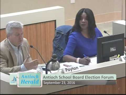 Antioch School Board Candidates Forum September 23, 2016