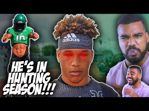 The *FASTEST* And *SCARIEST* Linebacker In High School!!! Justin Flowe Highlights Reaction
