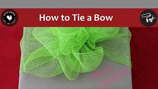 How to Tie a Bow - Easy DIY Project