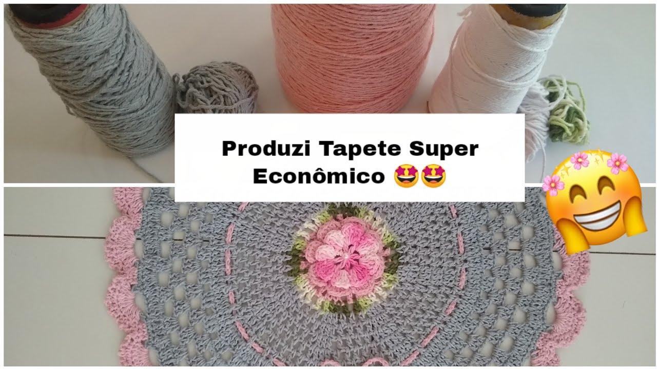 Vlog Produzi Tapete Super Econômico com Sobras De Barbante 💰💰