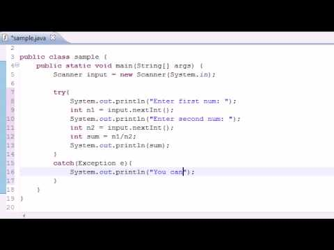 Java Programming Tutorial - 82 - Exception Handling from YouTube · Duration:  9 minutes 2 seconds