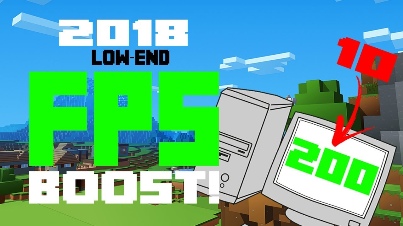 Minecraft FPS BOOST! (2019) FOR ALL LOW-END PCs/LAPTOPS!