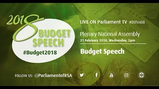 PLENARY National Assembly: Budget Speech