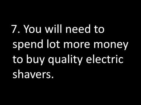 10 Disadvantages Of Using Electric Shaver