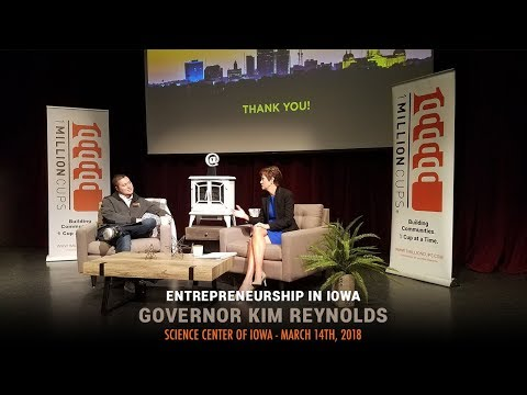 Governor Kim Reynolds at 1 Million Cups