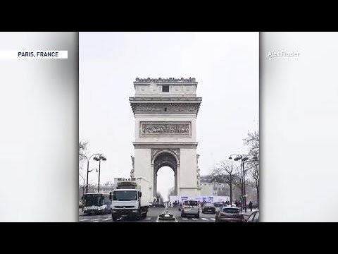 'Beast from the east' drops snow on major European monuments, see it