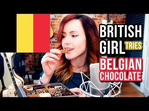 BRITISH GIRL TRIES BELGIAN CHOCOLATE