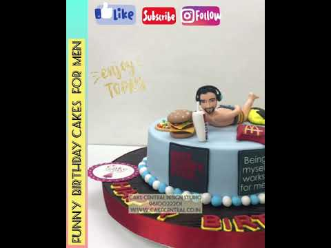 Cakes For Him Boy Friend Cake Husband Cake Birthday Cake Ideas For Men Funny Cakes Delhi Youtube