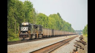 Norfolk Southern Trains Blasting Along the Pittsburgh Line!