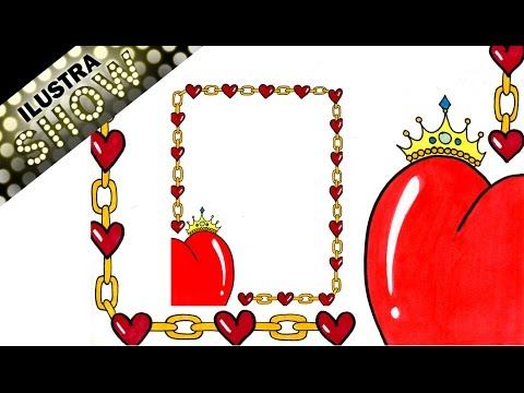 Como decorar carta de amor corazon rey corona dibujar tutorial ilustra show youtube - Como decorar una lapida ...