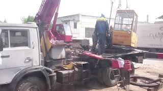 Заміна поворотного кола при ремонті автокрана Галичанин у Воронеж Спецтехніка