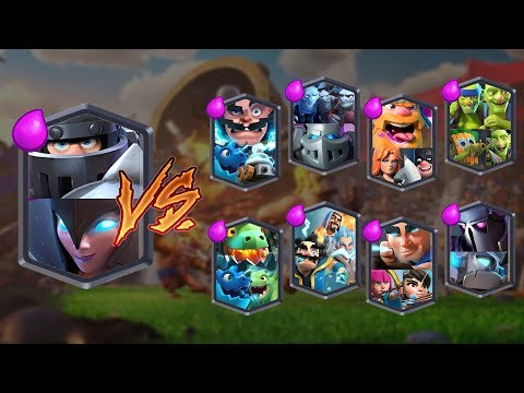 MEGA KNIGHT + NIGHT WITCH VS ALL TEAMS | CLASH ROYALE TEAM CHALLENGE