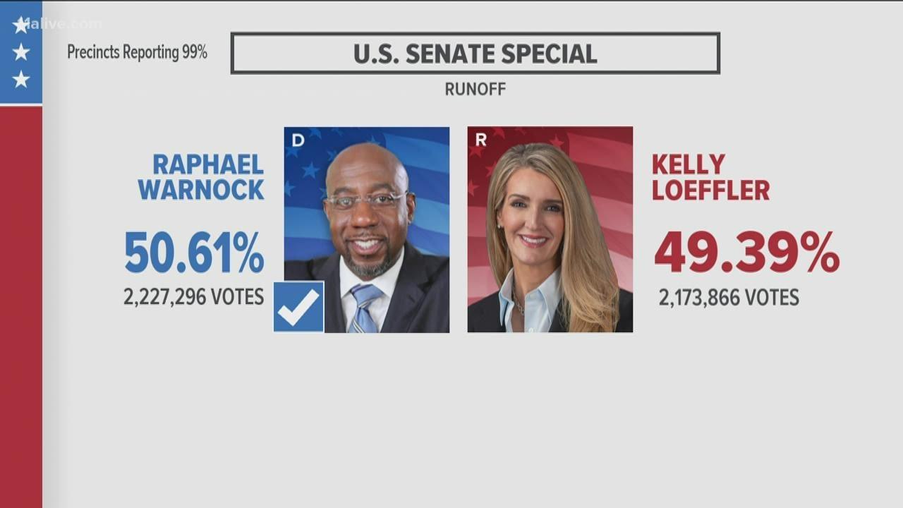 Latest Georgia Senate election results