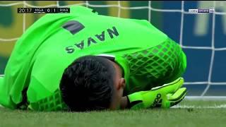"""Вратарь """"Реала"""" вытащил очень тяжелый матч и ударился о штангу."""