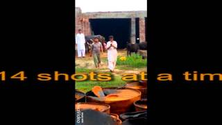 Hassan Baryar Shooting pistol 32 bor14 shots with one hand !!Must watch....Celebrity style!