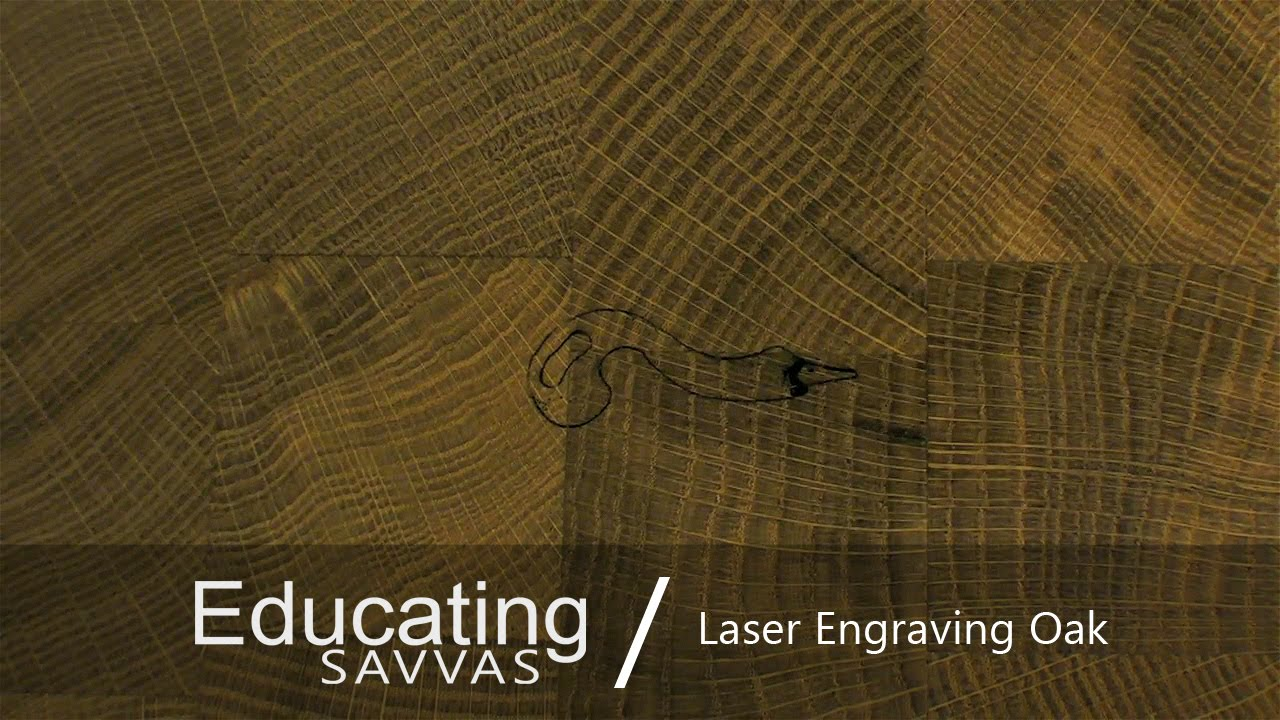 Laser Engraving Logo on Oak Chopping Board / Benbox Test