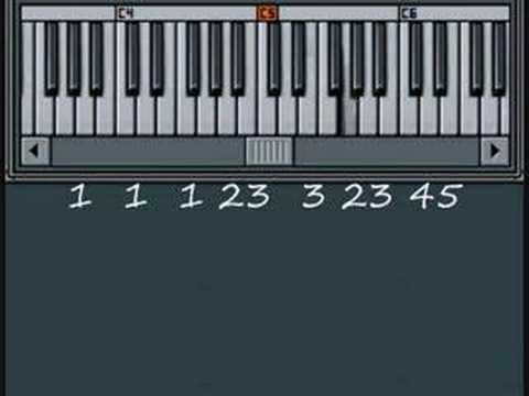 Row Row Row Your Boat Song Playing Music By Numbers Piano Lesson