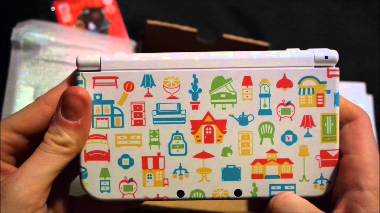 Unboxing new nintendo 3ds xl animal crossing happy - Animal crossing happy home designer bundle ...