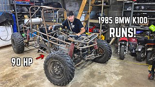 Our Mini Trophy Truck Build RUNS!! 1000cc Trophy Kart Build Pt. 13