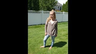 Halife tie front button down tunic- Fashion Product Review