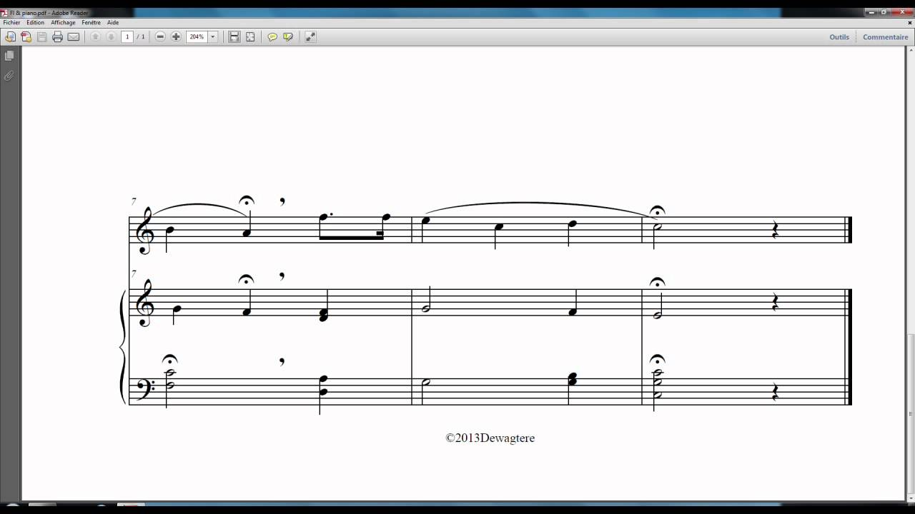 Happy Birthday To You, free Flute and piano sheet music