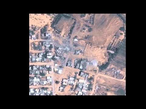 Gaza in Before and After satellite images