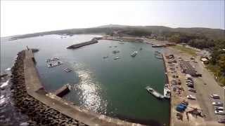空撮アオリイカ釣り場(三重)国崎町 国崎漁港