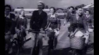 "1943 MOVIE ""THE GENTLE SEX"" BIKE SCENE"