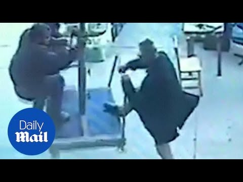 Angie Ward - Man Carried Away By Restaurant Umbrella!