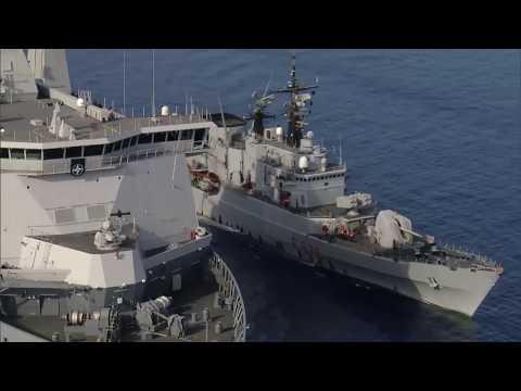 Marineschip Doorman beëindigt eerste militaire operatie