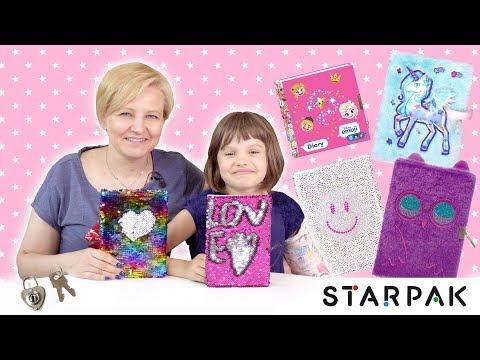 Puchate pamiętniki, notesy z kryształkami i cekinami - prezent od STARPAKa