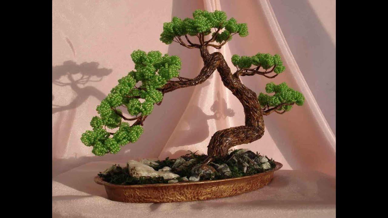 Поделки с бисера своими руками деревья