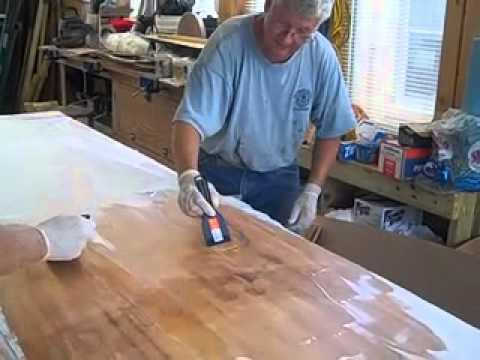 AMM Wooden Boat Building School Paddle Board - Fiberglass Cloth ...